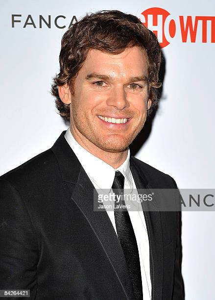 Actor Michael C Hall attends the official Showtime after party for the 66th annual Golden Globe Awards at The Peninsula Hotel on January 11 2009 in...