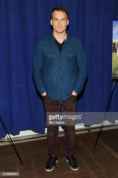 Actor Michael C Hall attends 'The Realistic Joneses' Broadway press preview at The New 42nd Street Studios on February 20 2014 in New York City