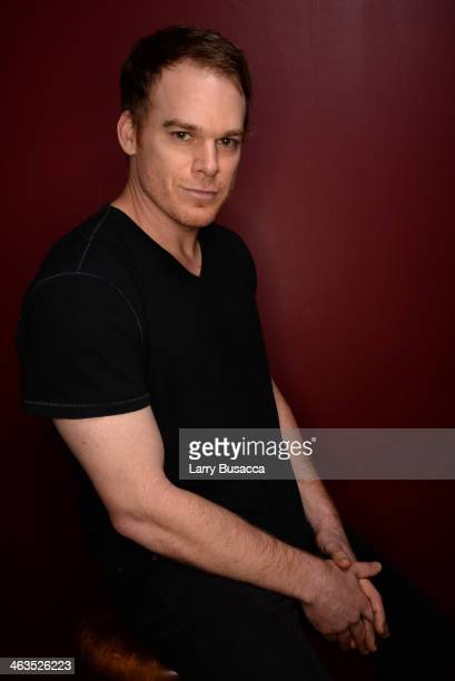Actor Michael C Hall poses for a portrait during the 2014 Sundance Film Festival at the Getty Images Portrait Studio at the Village At The Lift...