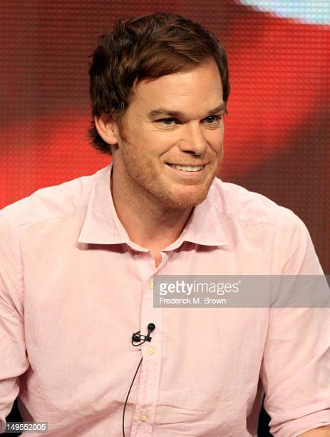 """Actor Michael C. Hall speaks at the """"Dexter"""" discussion panel during the Showtime portion of the 2012 Summer Television Critics Association tour at..."""