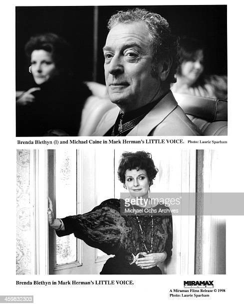 Actor Michael Caine actress Brenda Blethyn on the set of the Miramax films movie 'Little Voice' circa 1998