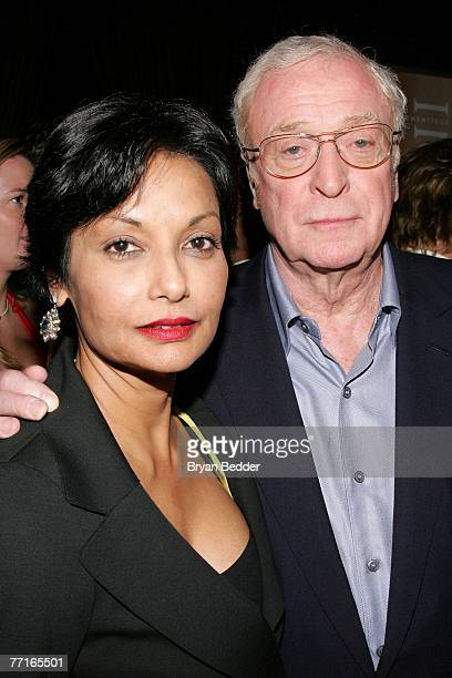 Actor Michael Caine and his wife Shakira attend the after party for the premiere of Sleuth at the Kobe club on October 2 2007 in New York City