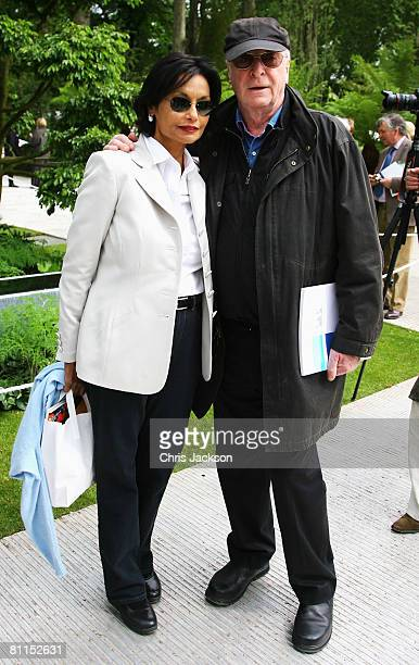 Actor Michael Caine and his wife Shakira Caine are seen during the Press and VIP day for Chelsea Flower Show 2008 on May 19 2008 in London England