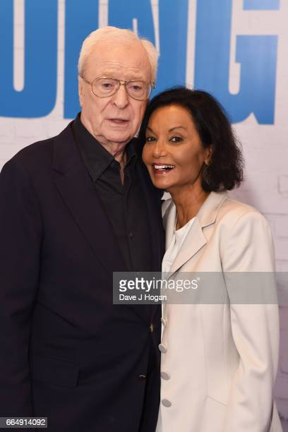 Actor Michael Caine and Shakira Caine attend the Going In Style special screening on April 5 2017 in London United Kingdom