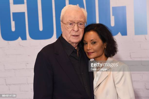 Actor Michael Caine and Shakira Caine attend the Going In Style special screening on April 5, 2017 in London, United Kingdom.