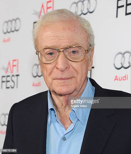 "Actor Michael Caine arrives at the AFI FEST 2015 Presented by Audi Screening of Fox Searchlight Pictures' ""Youth"" at the Egyptian Theatre on November..."