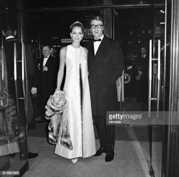 Actor Michael Caine arrives at the Gala opening of Murderers Row at Leicester Square Theatre with Swedish actress Camilla Sparv who stars in the film...