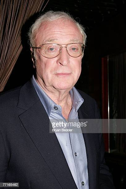 Actor Michael Caine attends the after party for the premiere of Sleuth at the Kobe Club on October 2 2007 in New York City