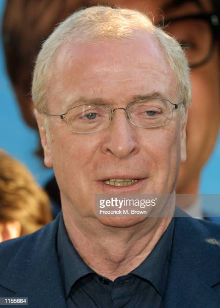 Actor Michael Caine attends the film premiere of Austin Powers in Goldmember July 22 in Los Angeles California The film opens nationwide July 26 2002