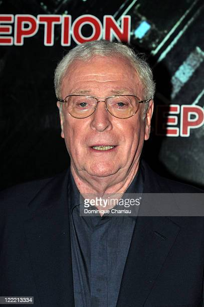 Actor Michael Caine attends the Paris Premiere for the film 'Inception' at Gaumont Champs Elysees on July 10 2010 in Paris France