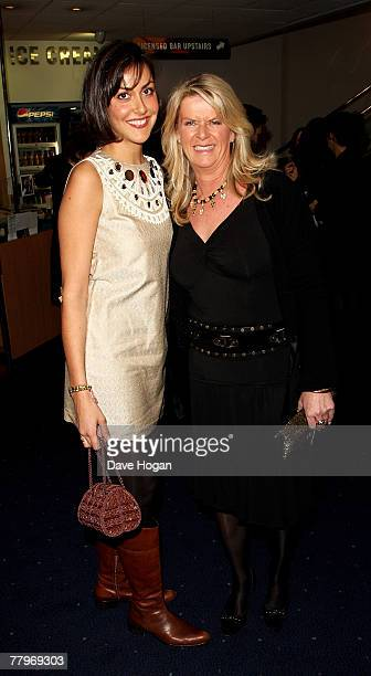 Actor Michael Caine's daughters Nikki and Natasha arrive at the UK film premiere of 'Sleuth' at the Odeon West End on November 18, 2007 in London,...
