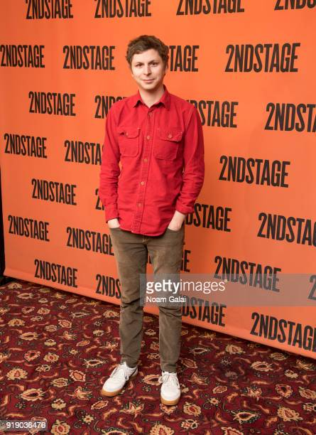 Actor Michael Cera attends the 'Lobby Hero' cast meet and greet at Sardi's on February 16 2018 in New York City