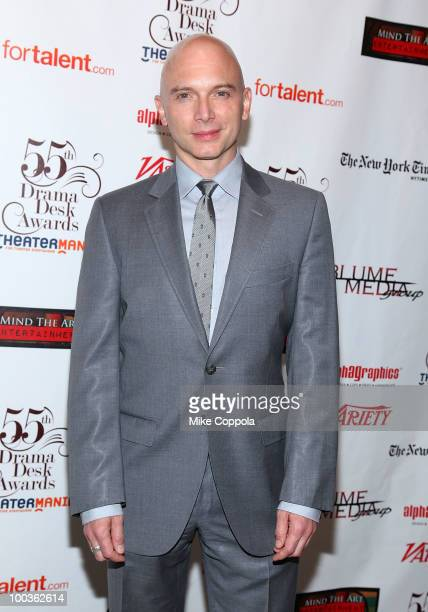 Actor Michael Cerveris arrives at the 55th Annual Drama Desk Awards at the FH LaGuardia Concert Hall at Lincoln Center on May 23 2010 in New York City