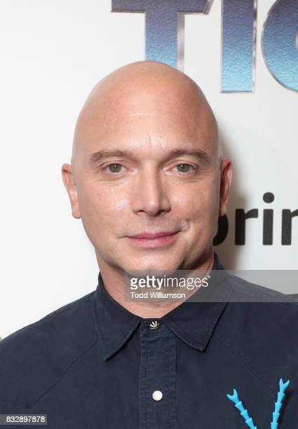 Actor Michael Cerveris attends the blue carpet premiere of Amazon Prime Video original series 'The Tick' at Village East Cinema on August 16 2017 in...