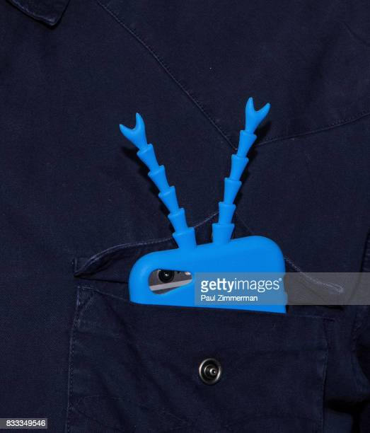 Actor Michael Cerveris cell phone case detail at 'The Tick' Blue Carpet Premiere at Village East Cinema on August 16 2017 in New York City