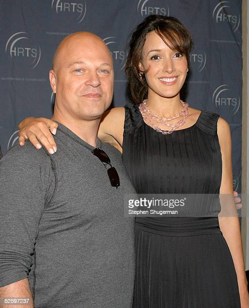 Actor Michael Chiklis and actress Jennifer Beals attend the Hollywood Radio and Television Society newsmaker luncheon series 'The Cable Chiefs'...