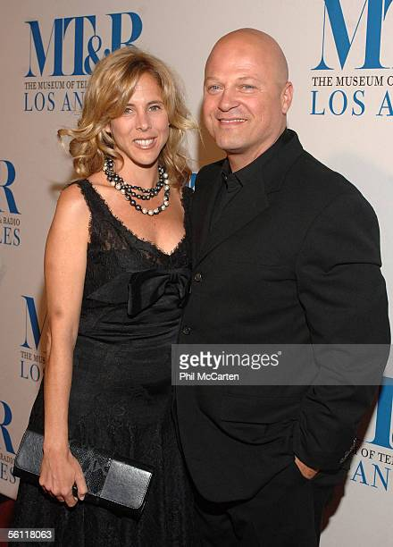 Actor Michael Chiklis and his wife Michelle Chiklis arrives at The Museum of Television Radio Annual Los Angeles Gala at the Beverly Hilton Hotel on...