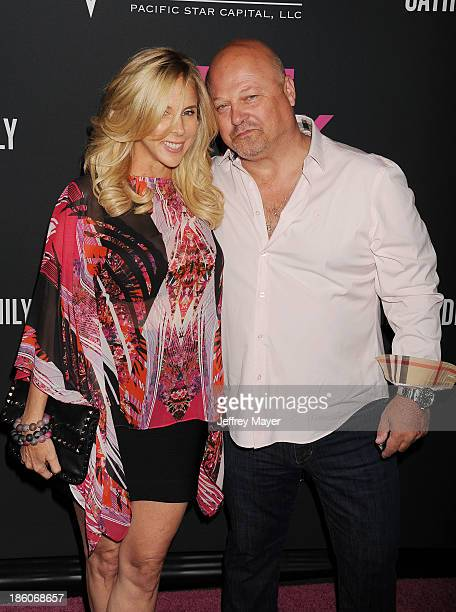 Actor Michael Chiklis and Michelle Chiklis attend The Pink Party 2013 at Barker Hangar on October 19 2013 in Santa Monica California