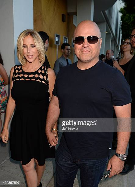 "Actor Michael Chiklis and Michelle Moran attend the HBO Premiere Of ""The Normal Heart"" at The WGA Theater on May 19, 2014 in Beverly Hills,..."