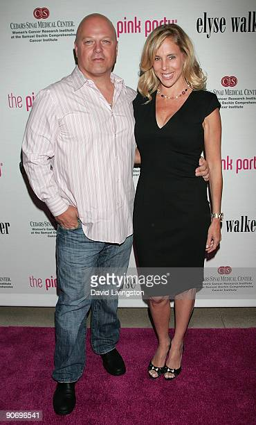 Actor Michael Chiklis and wife Michelle Moran attend the 5th annual Pink Party at La Cachette Bistro on September 12 2009 in Santa Monica California