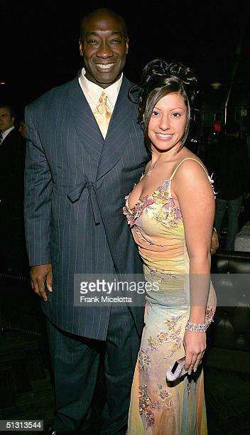 Actor Michael Clark Duncan and Irene Marquez at the official after party for the 2004 World Music Awards September 15 2005 at Body English in the...