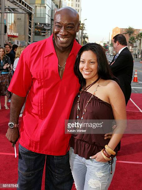 Actor Michael Clarke Duncan and Irene Marquez arrive at the Los Angeles fan screening of War of the Worlds at the Grauman's Chinese Theatre on June...