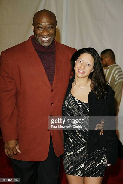 """Actor Michael Clarke Duncan, star of the animated film """"Delgo"""" , and and his wife Irene arrive at the third annual """"Ten"""" fashion show and charity..."""