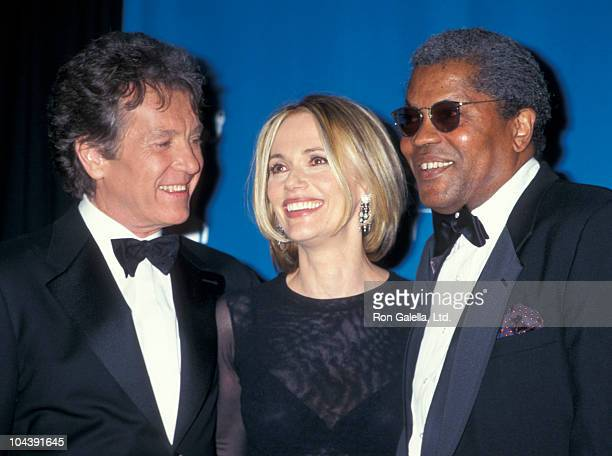 Actor Michael Cole actress Peggy Lipton and actor Clarence Williams III attend Third Annual Screen Actors Guild of America Awards on February 23 1997...