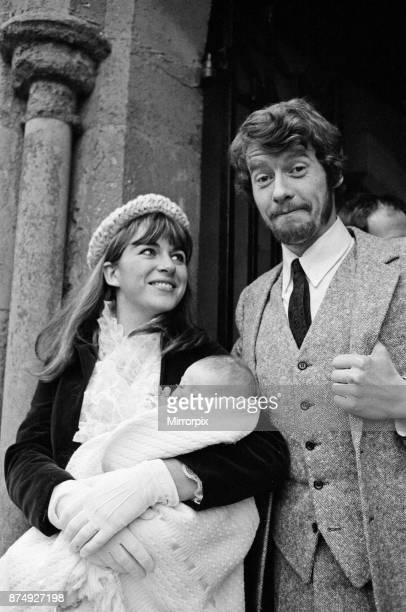 Actor Michael Crawford and his wife Gabrielle at the christening of their second daughter Lucy St Giles Parish Church Shipbourne near Tonbridge Kent...