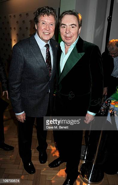 Actor Michael Crawford and Lord Andrew Lloyd Webber attend an after party following press night for Andrew Lloyd Webber's new West End production of...