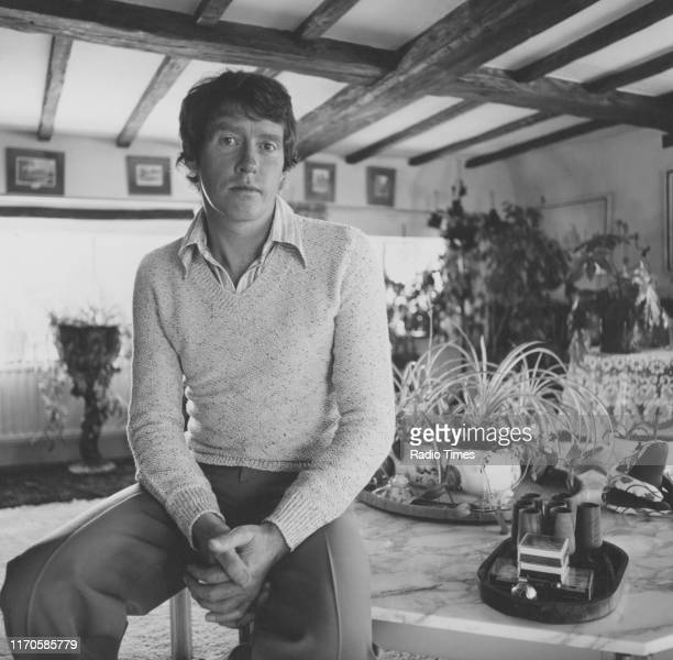Actor Michael Crawford at his home interviewed for the BBC television sitcom 'Some Mother's do 'Ave 'Em' as well as his appearance on the BBC Radio 4...