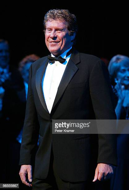 Actor Michael Crawford at the curtain call for The Phantom of the Opera which has become the longest running show in Broadway history surpassing Cats...