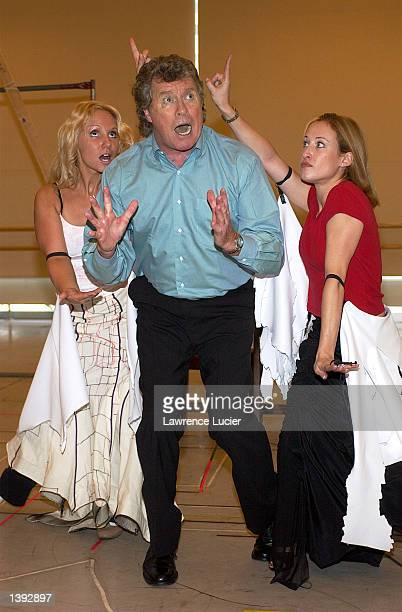 Actor Michael Crawford performs the role of Count Von Krolock with castmembers at a preview of Dance of the Vampires September 18 2002 in New York...