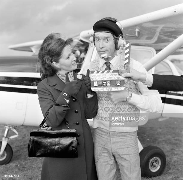 Actor Michael Crawford pictured during filming of the BBC comedy series 'Some Mothers Do Av Em' Here he is pictured with costar Michele Dotrice who...