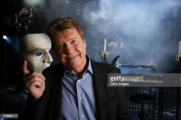 Actor Michael Crawford poses for a portrait to promote television documentary The Phantom of the Opera Behind the Mask on set at the Her Majesty's...