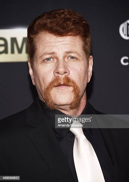 Actor Michael Cudlitz arrives at the Season 5 premiere of AMC's The Walking Dead at AMC Universal City Walk on October 2 2014 in Universal City...