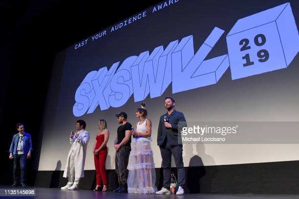 Actor Michael Cuomo moderates a QAwith director and cowriter Jeremy Teicher actors and Olympic athletes Morgan Schild Gus Kenworthy and Alexi Pappas...