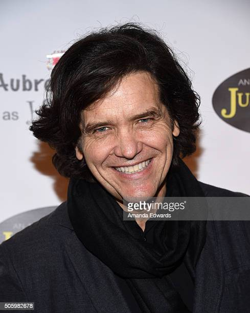 Actor Michael Damian arrives at a private screening of Amazon's Just Add Magic at the Chaplin Theater at Raleigh Studios on January 20 2016 in...
