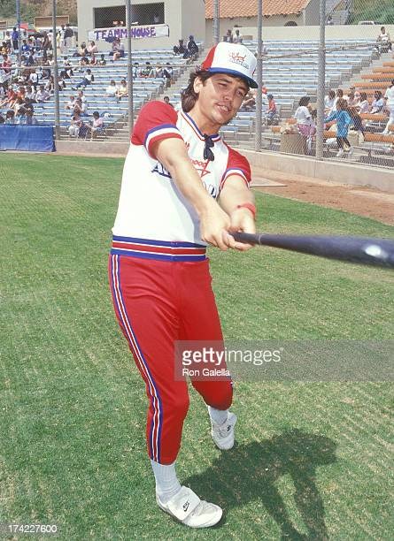 Actor Michael Damian attends the Hollywood AllStars vs 'The Bold the Beautiful' Celebrity Softball Game on June 13 1987 at Pepperdine University in...