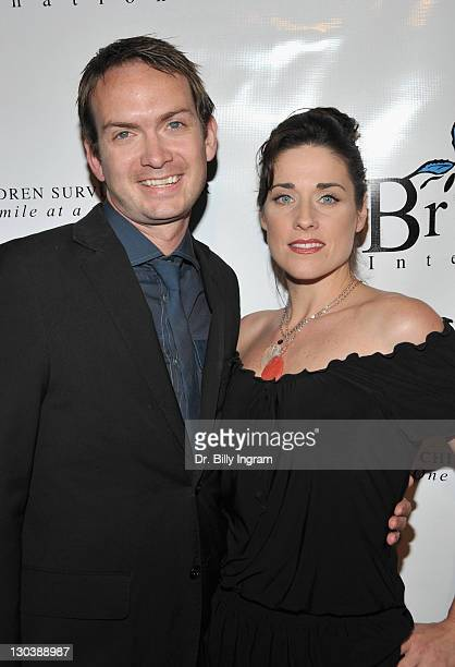 Actor Michael Dean Shelton and actress Danielle Petty arrive at the Golden Globe Awards Post Celebration & Party To Benefit Britticares Interna at...