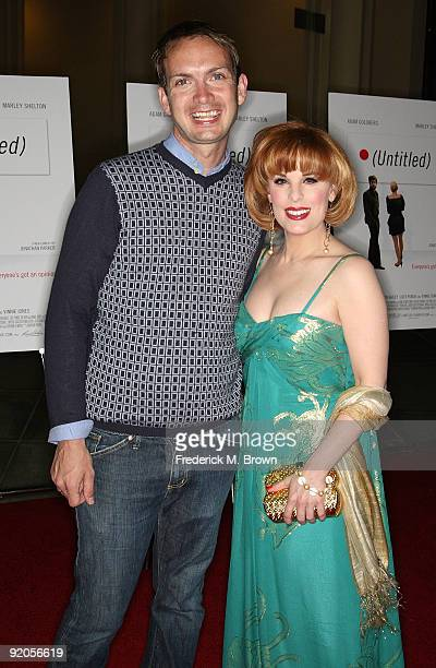 Actor Michael Dean Shelton and producer Katherine Kramer attend the Untitled film premiere at the Los Angeles County Museum of Art's Bing Theater on...