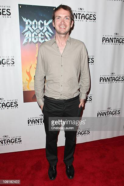 """Actor Michael Dean Shelton arrives at the Opening Night of """"Rock of Ages"""" at the Pantages Theatre on February 15, 2011 in Hollywood, California."""