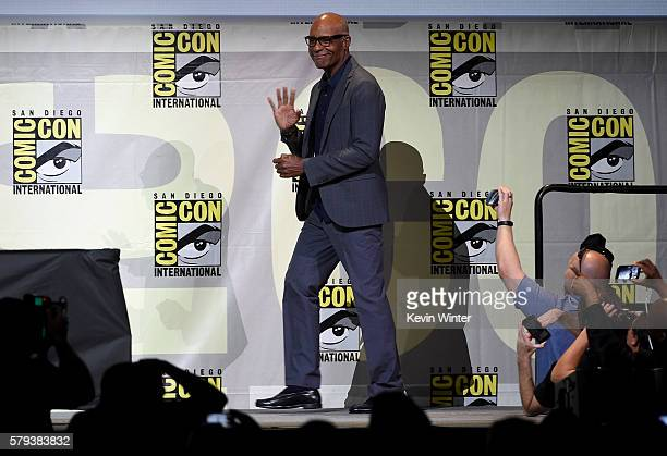 Actor Michael Dorn attends the 'Star Trek' panel during ComicCon International 2016 at San Diego Convention Center on July 23 2016 in San Diego...