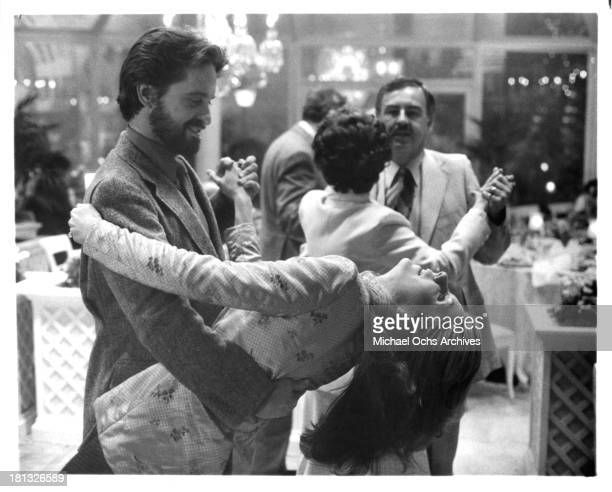 Actor Michael Douglas and actress Jill Clayburgh on set of the Columbia Pictures movie 'It's My Turn' in 1980