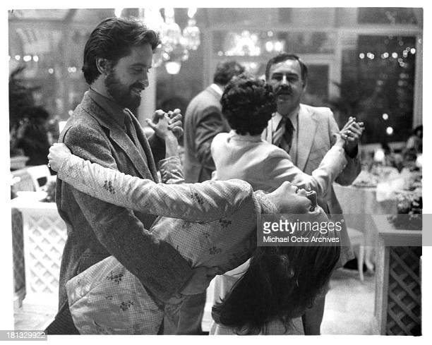 Actor Michael Douglas and actress Jill Clayburgh on set of the Columbia Pictures movie It's My Turn in 1980