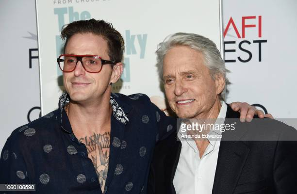 Actor Michael Douglas and Cameron Douglas arrive at the AFI FEST 2018 Presented By Audi 'The Kominsky Method' World Premiere Gala Screening at TCL...