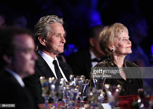 Actor Michael Douglas and Diana Douglas onstage during the AFI Lifetime Achievement Award A Tribute to Michael Douglas held at Sony Pictures Studios...