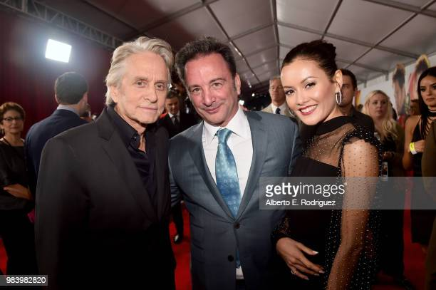Actor Michael Douglas and Executive Producer Louis D'Esposito attend the Los Angeles Global Premiere for Marvel Studios' AntMan And The Wasp at the...