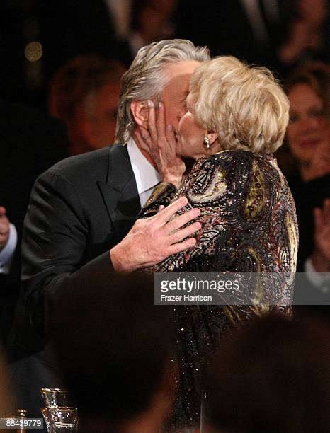 Actor Michael Douglas and mother Diana Douglas during the AFI Lifetime Achievement Award A Tribute to Michael Douglas held at Sony Pictures Studios...