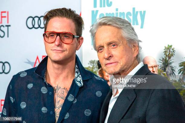 TOPSHOT Actor Michael Douglas and son Cameron Douglas attend the AFI Fest world premiere of The Kominsky Method on November 10 2018 in the Hollywood